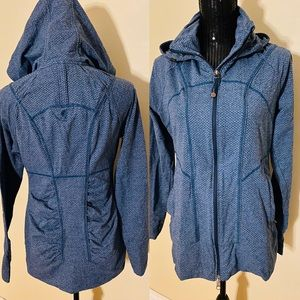 Athleta Rishi Jacket hoodie zip up teal/blue